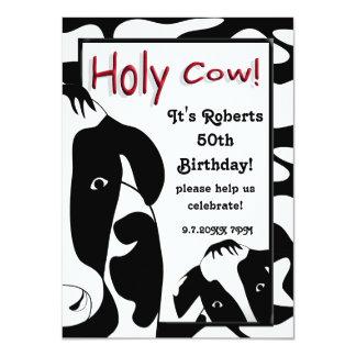 A festa de aniversário santamente engraçada da convite 11.30 x 15.87cm