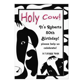 A festa de aniversário santamente engraçada da vac convite personalizado