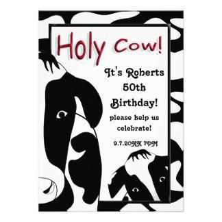 A festa de aniversário santamente engraçada da vac