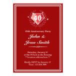 A festa de aniversário vermelha grande das gemas 4 convite personalizado