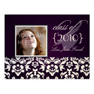 A festa de formatura convida cartão cartão postal