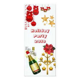 A festa de Natal do feriado do convite comemora Convite 10.16 X 23.49cm