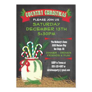 A festa de Natal ocidental do país do quadro Convite 12.7 X 17.78cm
