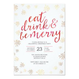 A festa de Natal que o convite | come a bebida