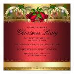A festa de Natal vermelha dos sinos & dos Baubles Convite Personalizados