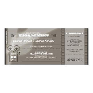 A FESTA DE NOIVADO da premier do filme Tickets o Convite 10.16 X 23.49cm