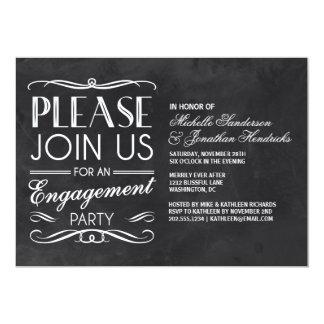 A festa de noivado da tipografia   do quadro convite 12.7 x 17.78cm