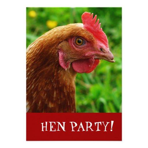 A festa de solteira da noite da galinha convida convites personalizado