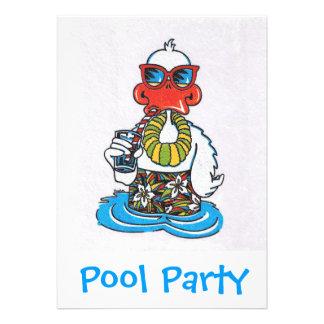 A festa na piscina convida convite personalizados