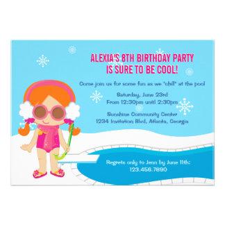 A festa na piscina do inverno convida
