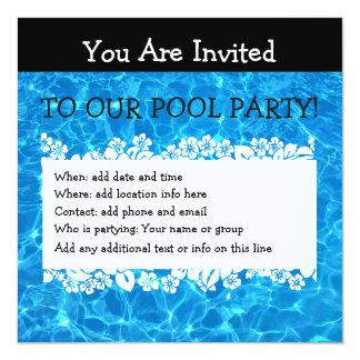 A festa na piscina do verão convida convite quadrado 13.35 x 13.35cm