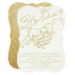 A festa natalícia à moda do roteiro do brilho do convite 12.7 x 17.78cm
