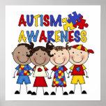 A figura da vara caçoa a consciência do autismo posteres