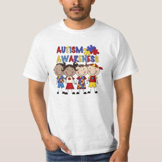 A figura da vara caçoa a consciência do autismo t-shirt