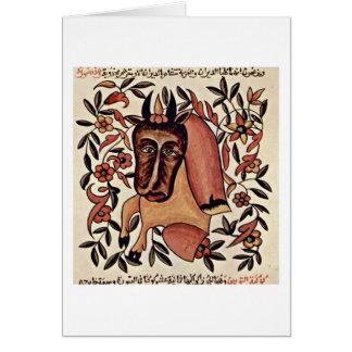 A figura Taurus do zodíaco pelo pintor árabe Cartoes