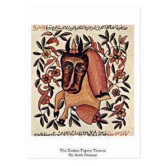 A figura Taurus do zodíaco pelo pintor árabe Cartoes Postais