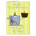 A filha come mais cartão de aniversário do bolo 38