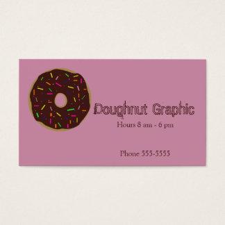 A filhós polvilha o fosco cor-de-rosa doce do cartão de visitas