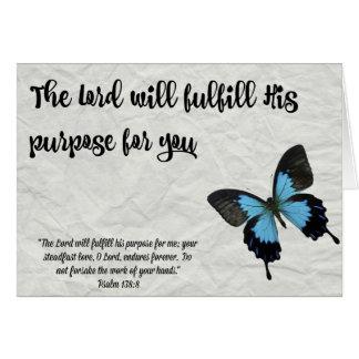 A Finalidade do Cartão- da graduação da borboleta Cartão De Nota