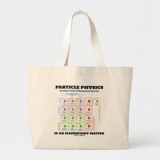 A física de partícula é um modelo elementar da bolsa tote grande