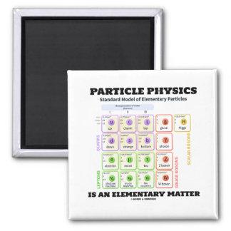 A física de partícula é um modelo elementar da imã