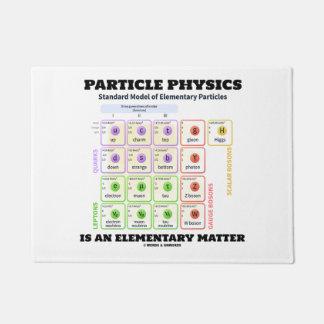 A física de partícula é um modelo elementar da tapete