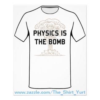 A física é a bomba nuclear panfleto
