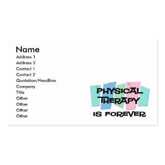 A fisioterapia é Forever Cartões De Visita