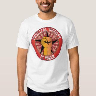 A fisioterapia é poder camisetas