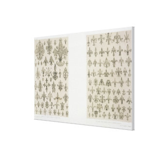 A flor de lis projeta de cada idade e de todo o a impressão em tela canvas