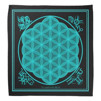 A flor do Aqua dos elementos da vida 4 Faixas Para Cabeça
