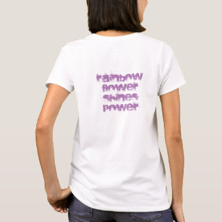 A flor do arco-íris brilha o poder camiseta