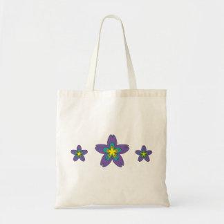 A flor feminino dos desenhos animados da menina sacola tote budget