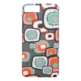 A flor retro da caixa do sushi esquadra o caso capa iPhone 7 plus