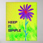 A flor selvagem mantem-no poster simples