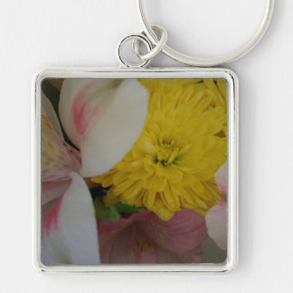 A flor sorri arte & fotografia de CricketDiane Chaveiro Quadrado Na Cor Prata