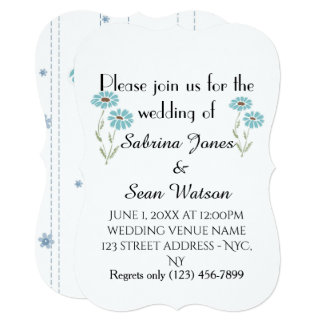 A flora do convite de casamento personaliza