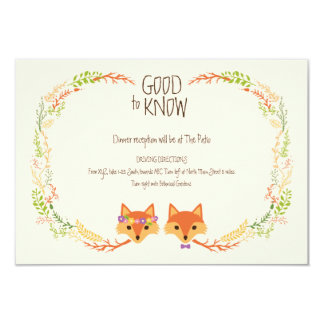 A floresta lunática Foxes o marfim que Wedding o Convite 8.89 X 12.7cm