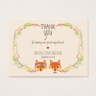 A floresta lunática Foxes Tag/cartões do presente Cartão De Visitas