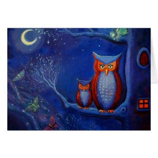 A floresta na noite - cartão