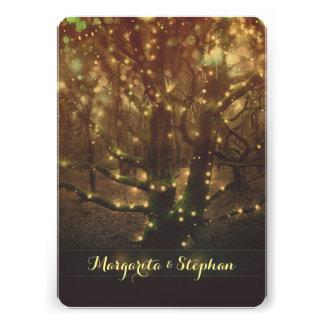 A floresta romântica Enchanted ilumina o jantar de