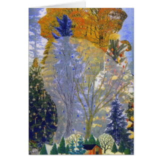 """A """"floresta sonha"""" o cartão"""