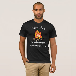 A fogueira é onde meu t-shirt cómico do camiseta