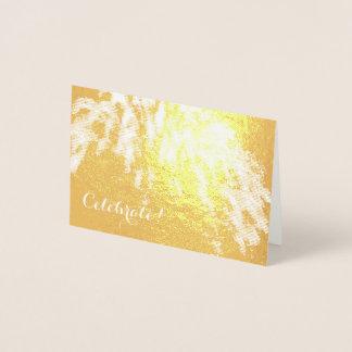 A folha de ouro comemora o mini cartão