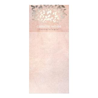 A folha de ouro elegante do falso da cosmetologia  10.16 x 22.86cm panfleto