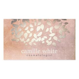 A folha de ouro elegante do falso da cosmetologia cartão de visita
