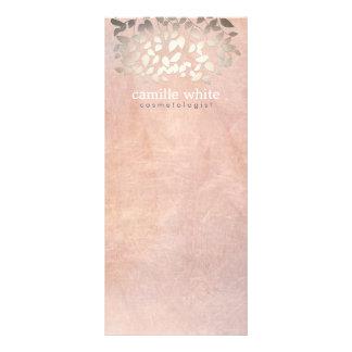 A folha de ouro elegante do falso da cosmetologia  panfletos informativos personalizados