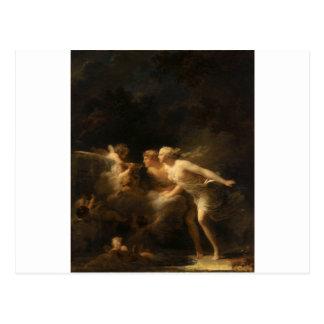 A fonte do amor por Jean-Honore Fragonard Cartão Postal