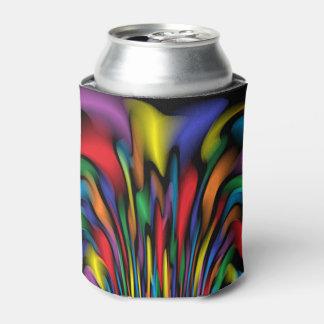 A fonte do arco-íris podem ou o refrigerador da porta-lata