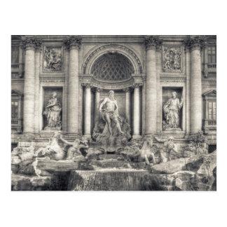 A fonte do Trevi (italiano: Fontana di Trevi) 4 Cartão Postal